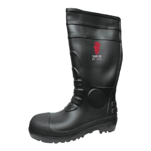 Warrior Black Safety Wellington Boots